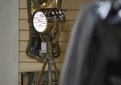 Chrome Steel Tripod Searchlight