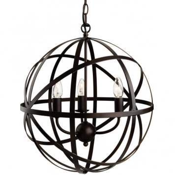 Black Round Pendant Globes