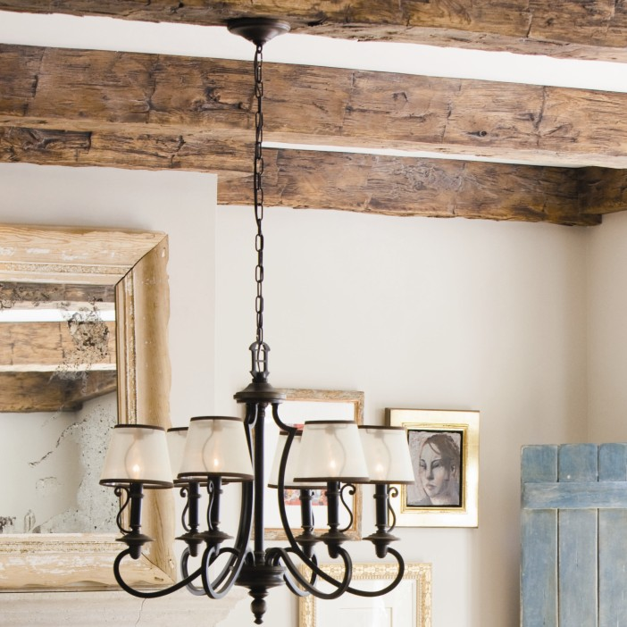 Hinkley-Lighting-Plymouth-6-Light-Shaded-Chandelier