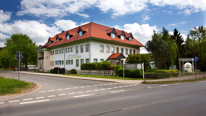 Hotel Am Staftpark Germany Aussenansicht Lights by ideas4lighting Konstsmide Outdoor Light