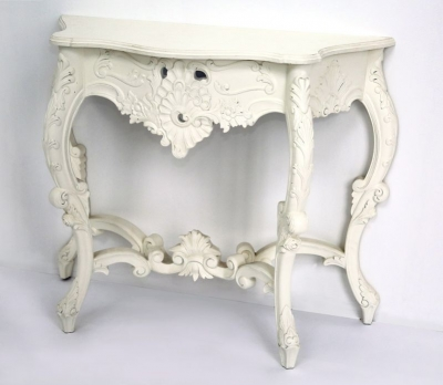 2 Pharmore Ornate French Style Cream PMR Console Table