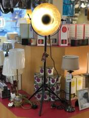 Black and old Leaf Tripod Floor Stand Lamp