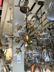 Modern Black and Gold Funky Chandelier Light Clanrye Lighting Newry